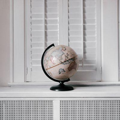 globe sitting on radiator
