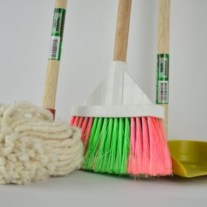 mop broom and dust pan 5 dog farm
