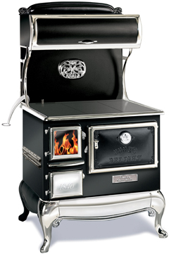 black elmira fireview wood cookstove
