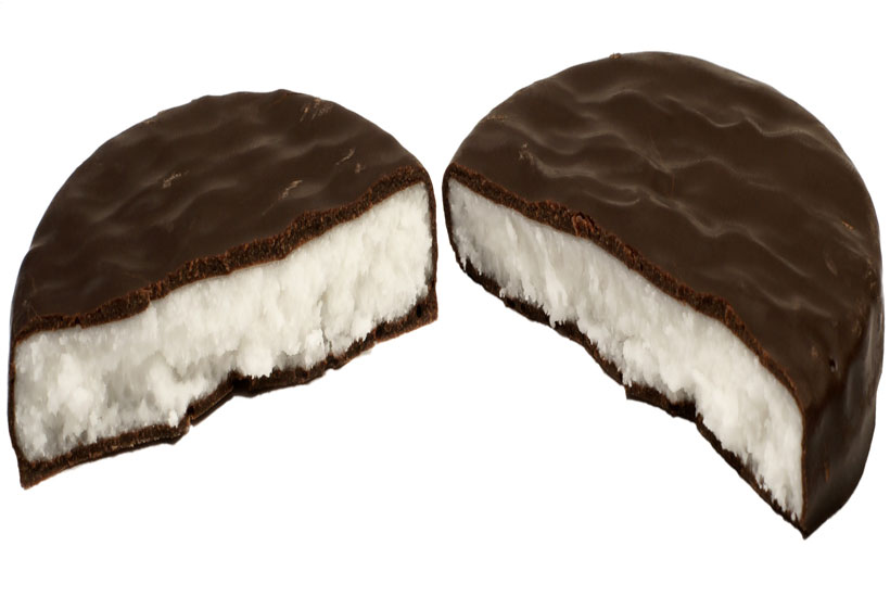 peppermint patties broken in half