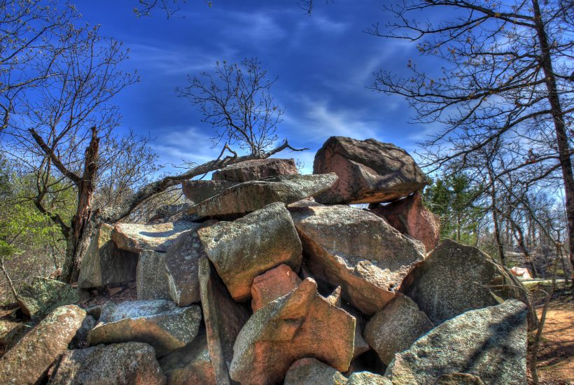 large pile of rocks 5 dog farm