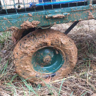 muddy wheel on cart 5 Dog Farm