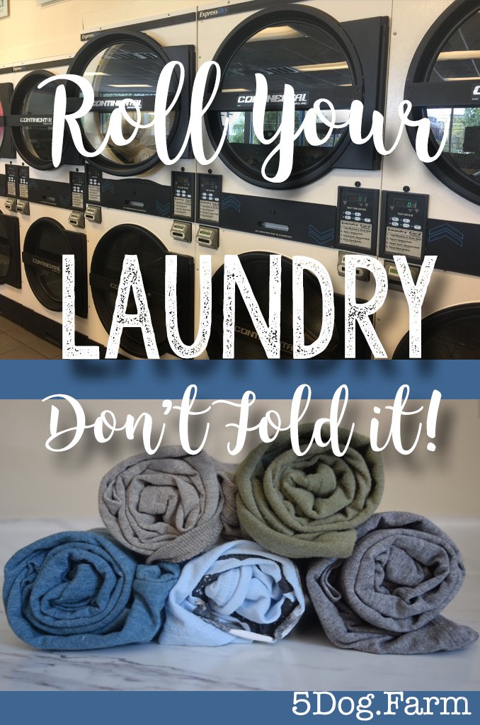 Don't Fold your Laundry. Roll it!