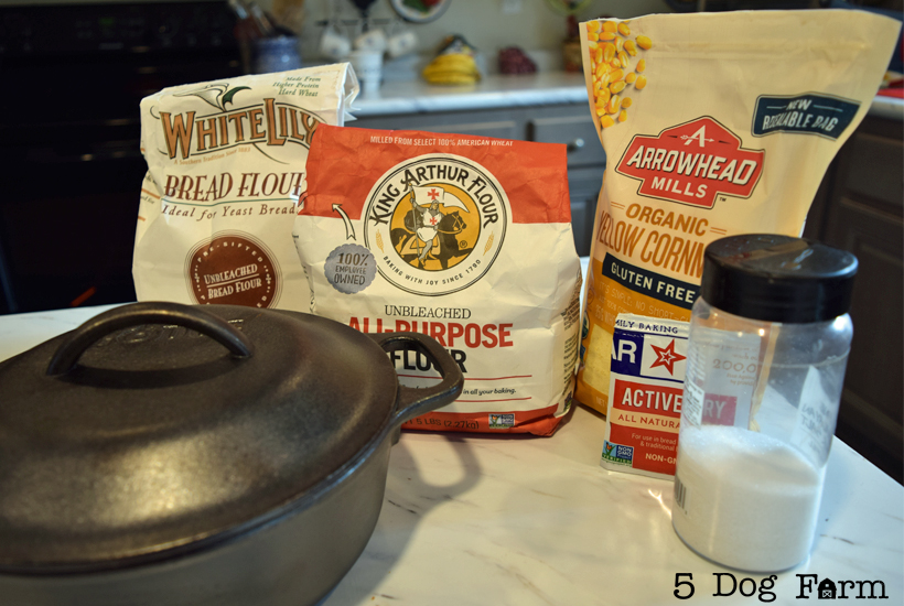 ingredients for cast iron bread 5 dog farm
