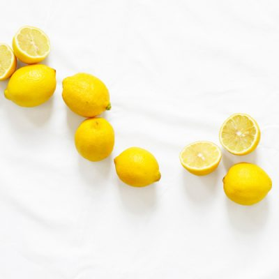 lemons on marble