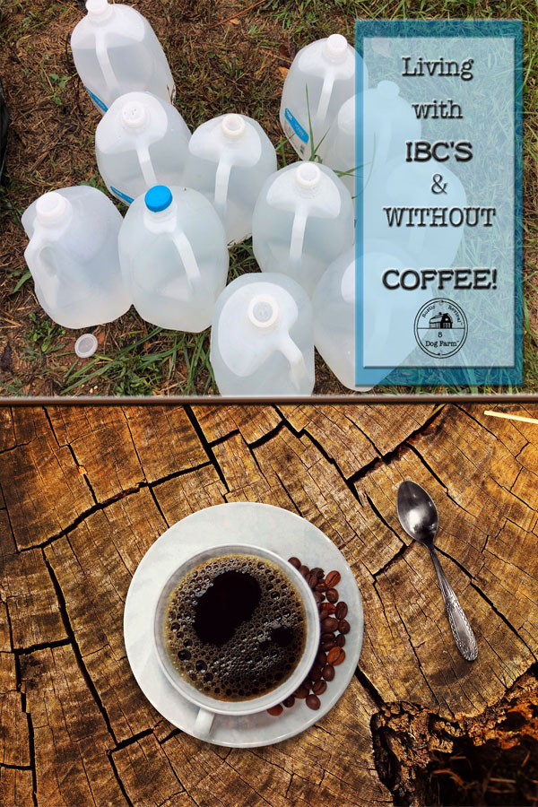 water bottles and cup of coffee 5DogFarm