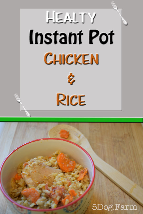 Easy Instant Pot Chicken & Rice 5DogFarm