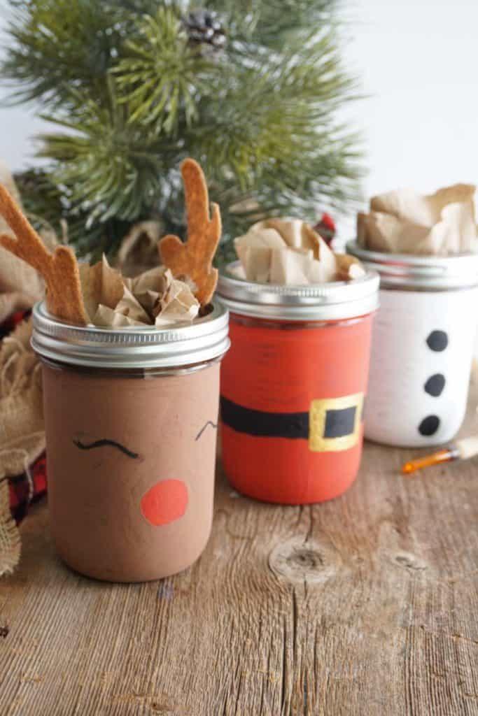 Painted For Christmas Mason Jars