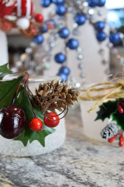 different ways to decorate glitter candle jars