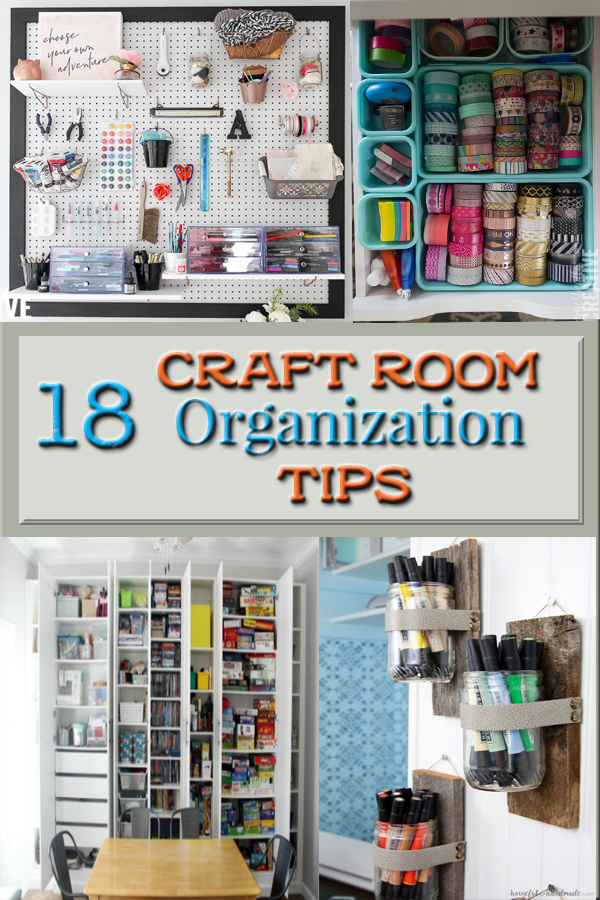 18 Craft Room Organization Tips from 5Dog.Farm