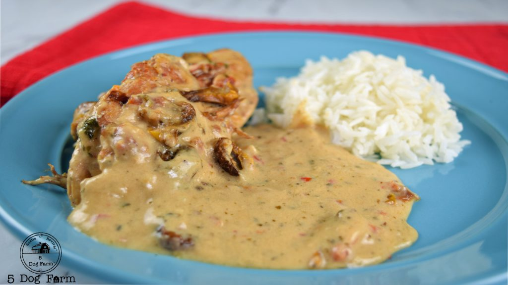 Marry Me Chicken with gravy and rice