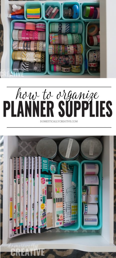 How To Organize Planner Supplies