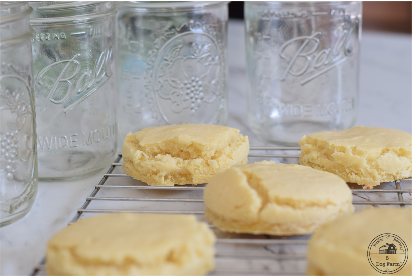 shortcakes sitting in front of mason jars