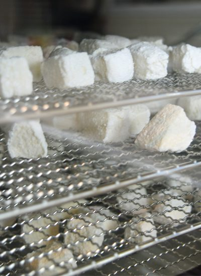 marshmallows in a dehydrator