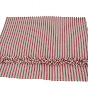Red Ruffle Ticking Towel