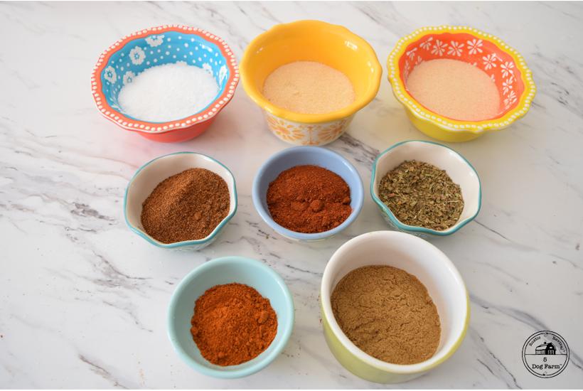 ingredients for taco seasoning